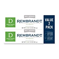 Rembrandt Deeply White + Peroxide Whitening Toothpaste, Peppermint Flavor, 3.5-Ounce...