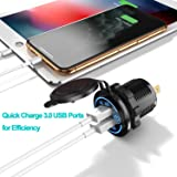 YONHAN Quick Charge 3.0 Dual USB Car Charger with