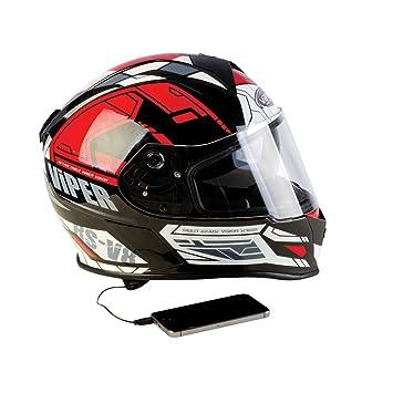 Viper RS-V8- casco integral para motocicleta, con altavoces estéreo