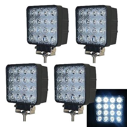 PoJu 4X 48W Proyector LED Reflector Lámpara de marcha atrás ...