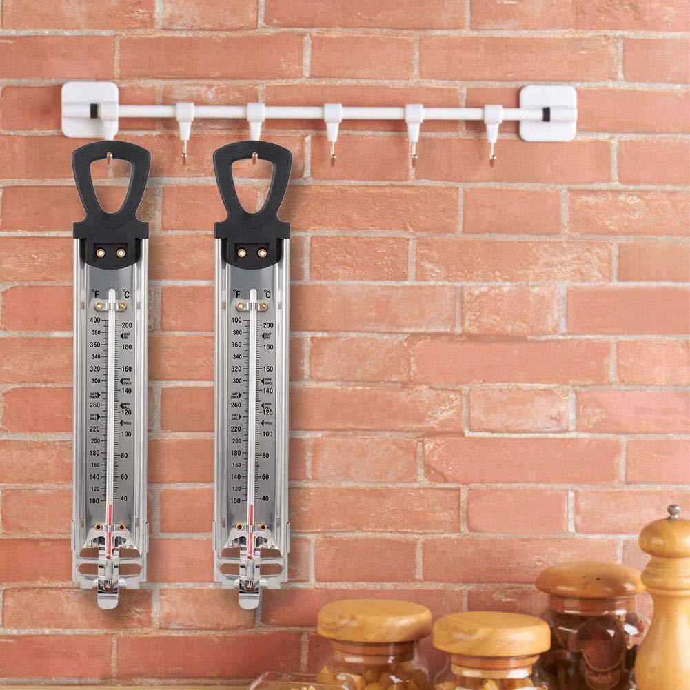 Wifehelper Term/ómetro para Colgar en el hogar Jarabe de az/úcar Candy Fry Jam Term/ómetro con Pantalla de Doble Escala Utensilios de Cocina Gadgets