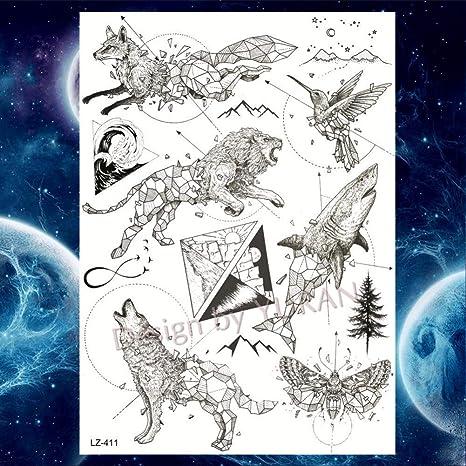 GHHCG Negro Animales Orejas Universo Tatuajes Temporales ...