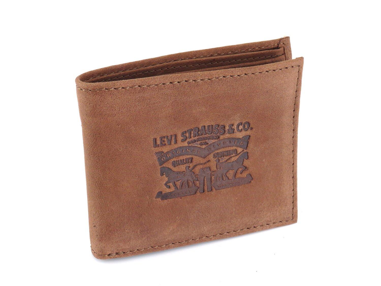 Levis cartera cuero efecto envejecido horizontal marrón: Amazon.es: Equipaje