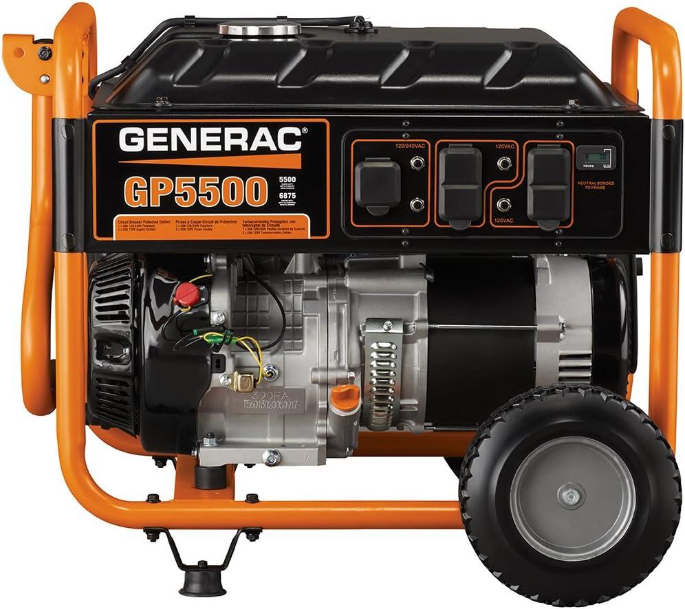 Generac 5939 Starting Watts Gas Powered Portable Generator