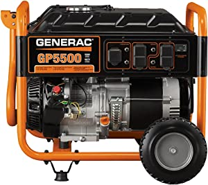 Generac 5939 GP5500 Starting Watts Gas Powered Portable Generator