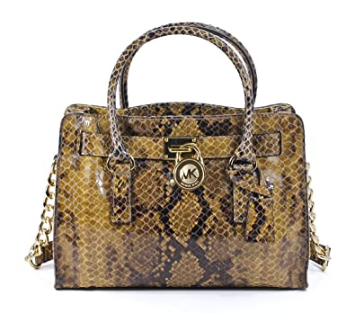 df452bcd9997 ... where to buy michael michael kors hamilton east west python satchel  sand 49188 c4eeb