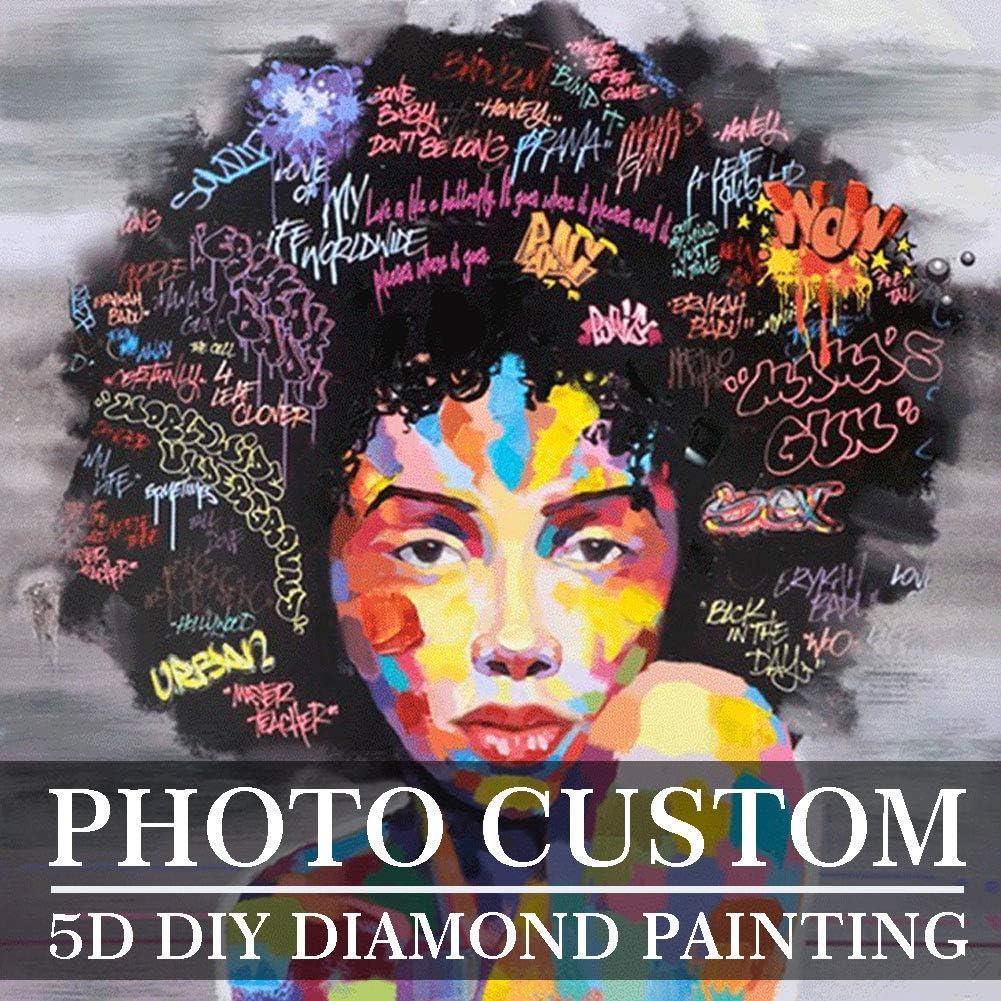 7.87Inch DIY Photo Custom 5D Diamond Full Painting Kit Make Your Own Diamond Painting Full Round Diamond Rhinestone Embroidery 7.87