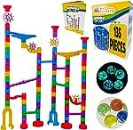 Marble Run Sets Kids Activities - 135pcs Translucent Race Maze Track