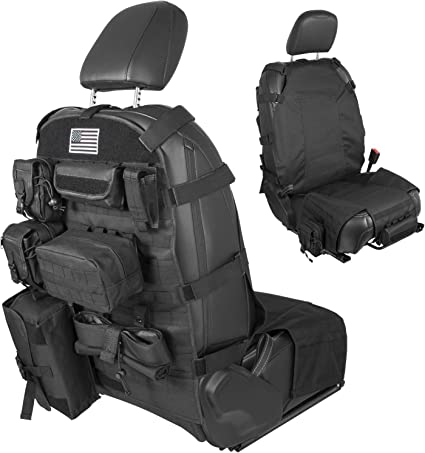 Tactical Molle Car Seat Cover Organizer Pocket Storage Bag For Jeep JK Ford F150