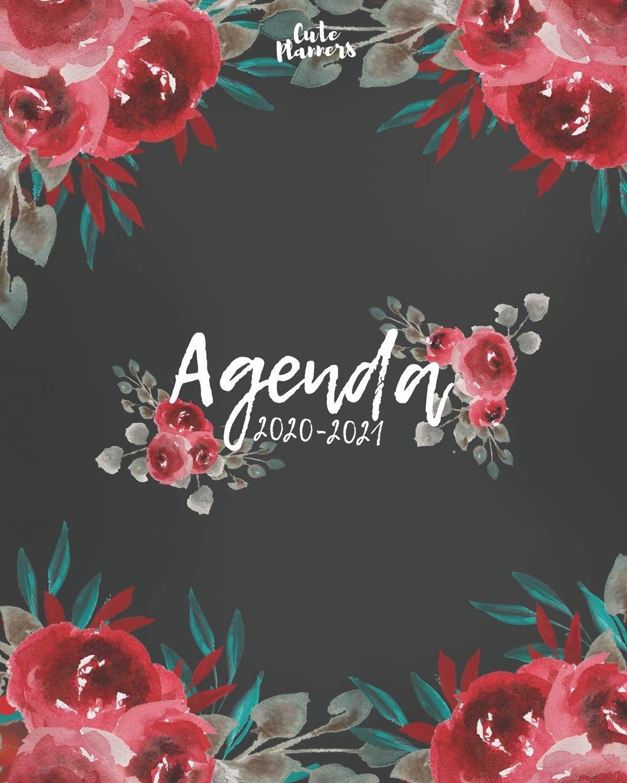 Agenda 2020-2021: Agenda 2020 -2021: Cute Planners / Black ...