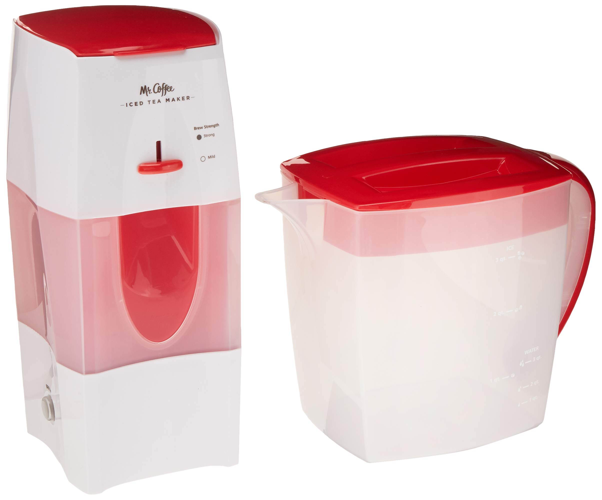 Mr. Coffee 3-Quart Iced Tea and Iced Coffee Maker, Red by Mr. Coffee
