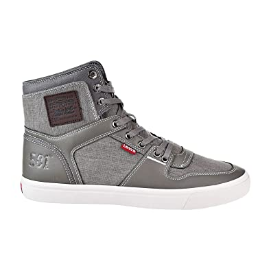 e53e0632fc7c Levi s Mason Hi 501 PG Men s Fashion Shoes Charcoal Brown 518445-s14 (8.5