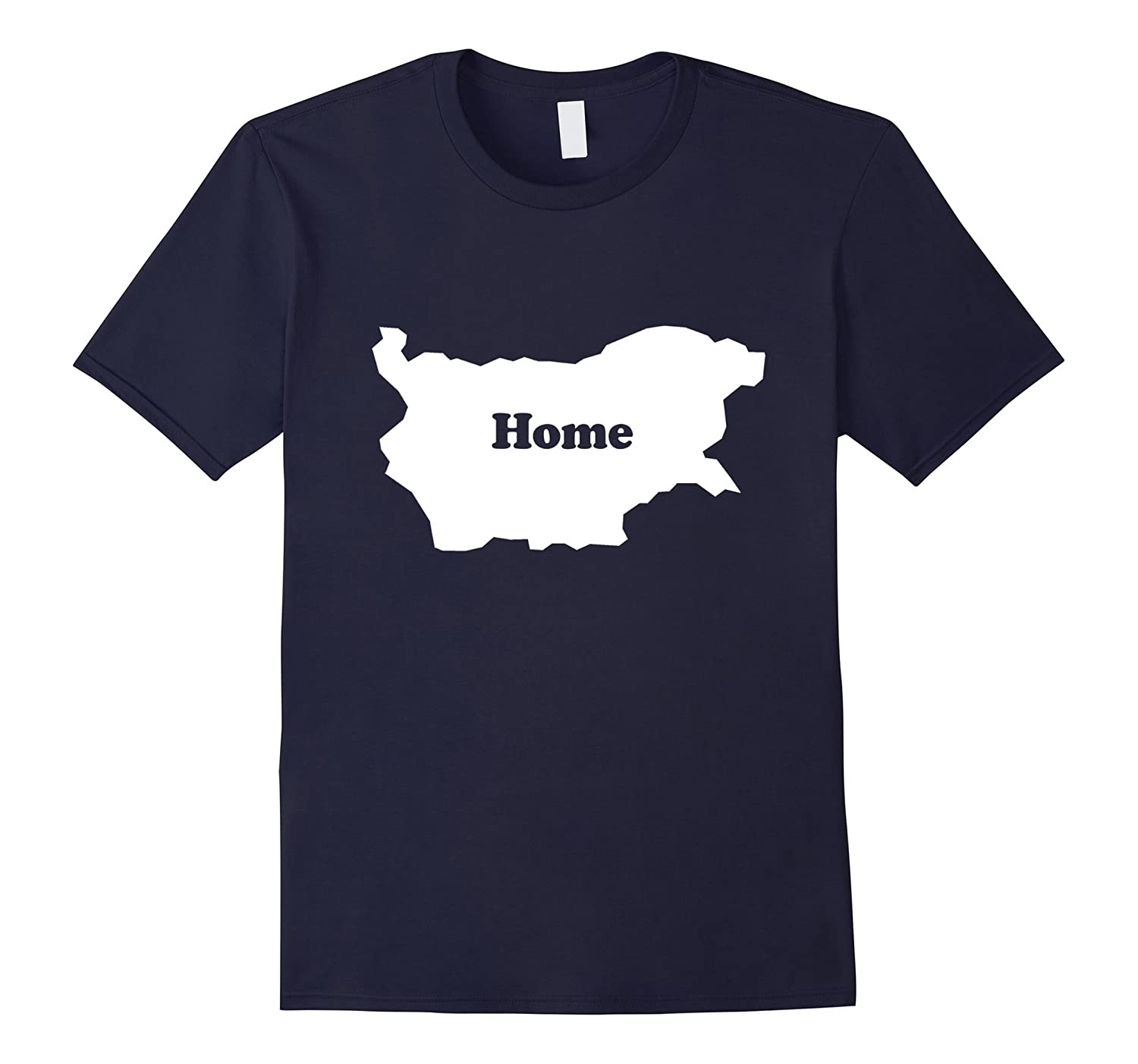 Bulgaria Home Map Outline Shape Funny T-Shirt-CD