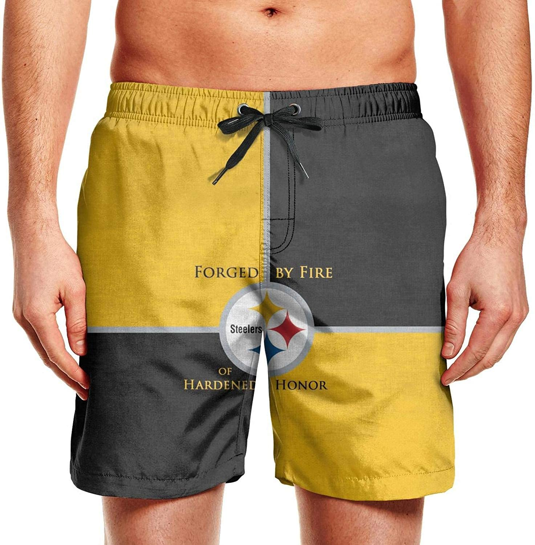 Pittsburgh Steelers Champion Fans Poster Men Surf Swimwear Patriotic Shorts
