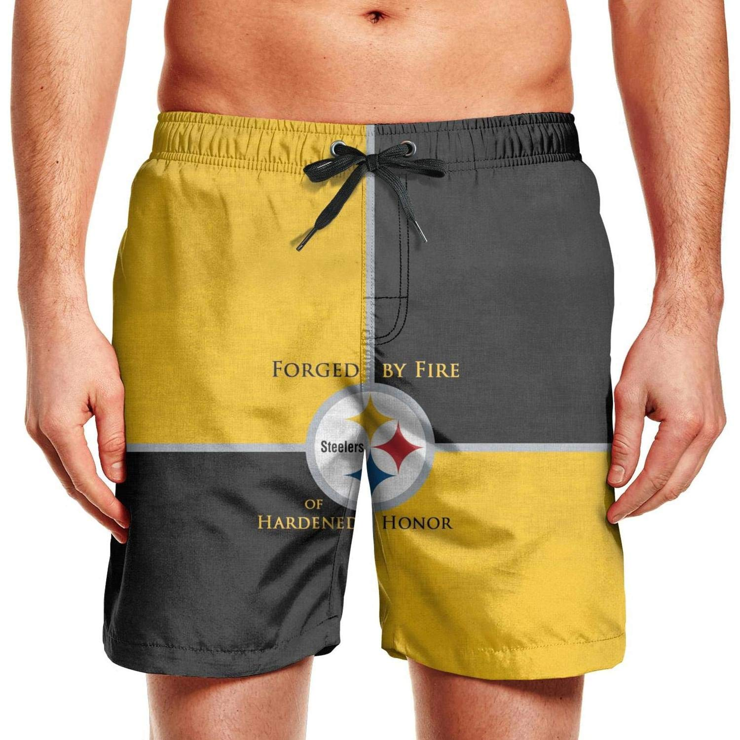 Pittsburgh Steelers Champion Fans Poster Mens Track Swim Hawaiian Shorts