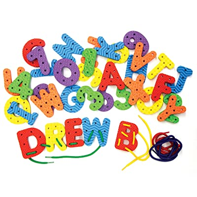 Chenille Kraft Wonderfoam Lacing Letters and Numbers Set: Toys & Games
