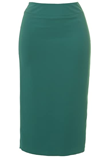 0db1cd2c31 Busy Clothing Womens Jade Green Long Skirt: Amazon.co.uk: Clothing