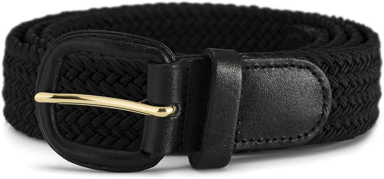Fibbia in Pelle Taglie: Small Streeze Cintura Uomo//Donna Elasticizzata Intrecciata 30mm 3XL 6 Taglie