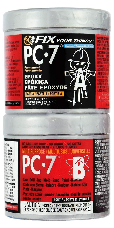 PC-Products 087770 PC-7 Heavy Duty Permanent Repair Paste Epoxy, 1/2 Pound, Dark Grey