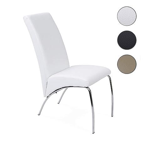 Adec - Silla de comedor arco, medidas 43 x 70 x 96 cm, color blanco