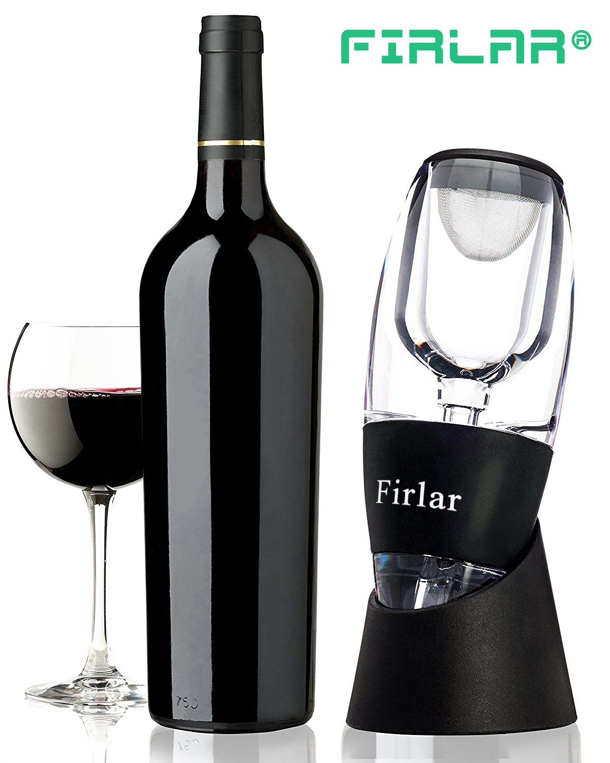 Firlar Essential Wine Aerator Decanter Set with Gift Box Magic Decanter Pourer Gift Ideal for Valentine\'s Day Anniversary Birthday for Couples Friends Home Use(Wine Aerator)
