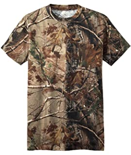 bece4b0e26632 Russell Outdoors Mens Realtree AP Camo Short Sleeve Explorer Shirt w/Pocket  M L XL 2XL