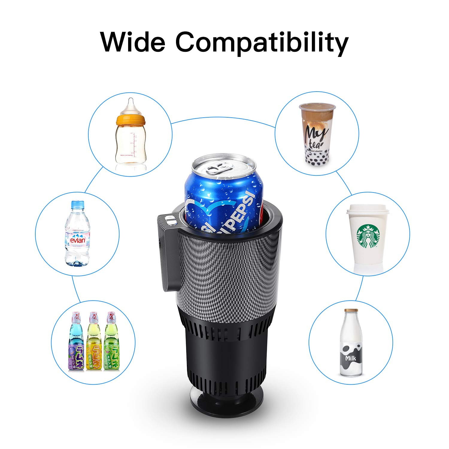 Ranipobo Kühler Wärmer Smart Car Cup, Premium 2-in-1 Auto Tasse Warm & Cool 5L Smart Auto Cup Cup Holder 12V Kühler wärmer Smart Auto Tasse, Kühler wärmer Smart Auto Cup