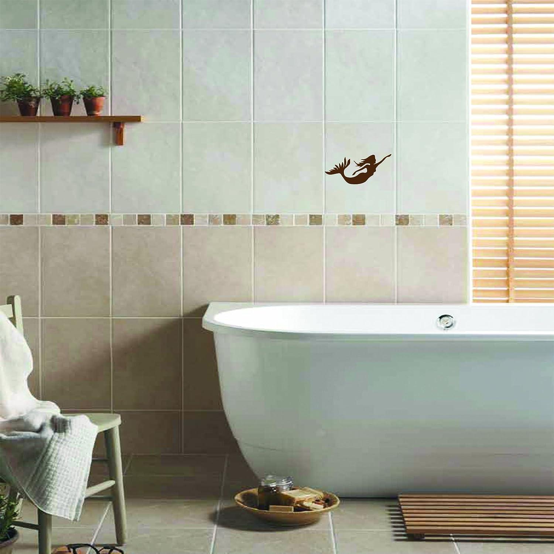 Deep Sea Mermaid Size 20cm width Colour Metalic Gold Bathroom tiles ...