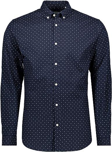 Jack&Jones Camisa Hombre S Azul Marino 12169911 JPRLALOGO Stretch AOP Shirt LS Navy Blazer: Amazon.es: Ropa y accesorios