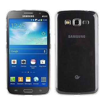 Electrónica Rey Funda Carcasa Gel Transparente para Samsung Galaxy Grand 2 Ultra Fina 0,33mm, Silicona TPU de Alta Resistencia y Flexibilidad