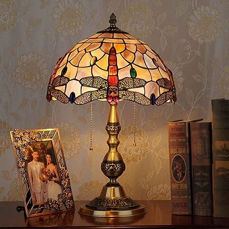 Lámpara de Tiffany estilo/shell lámpara de sobremesa ...