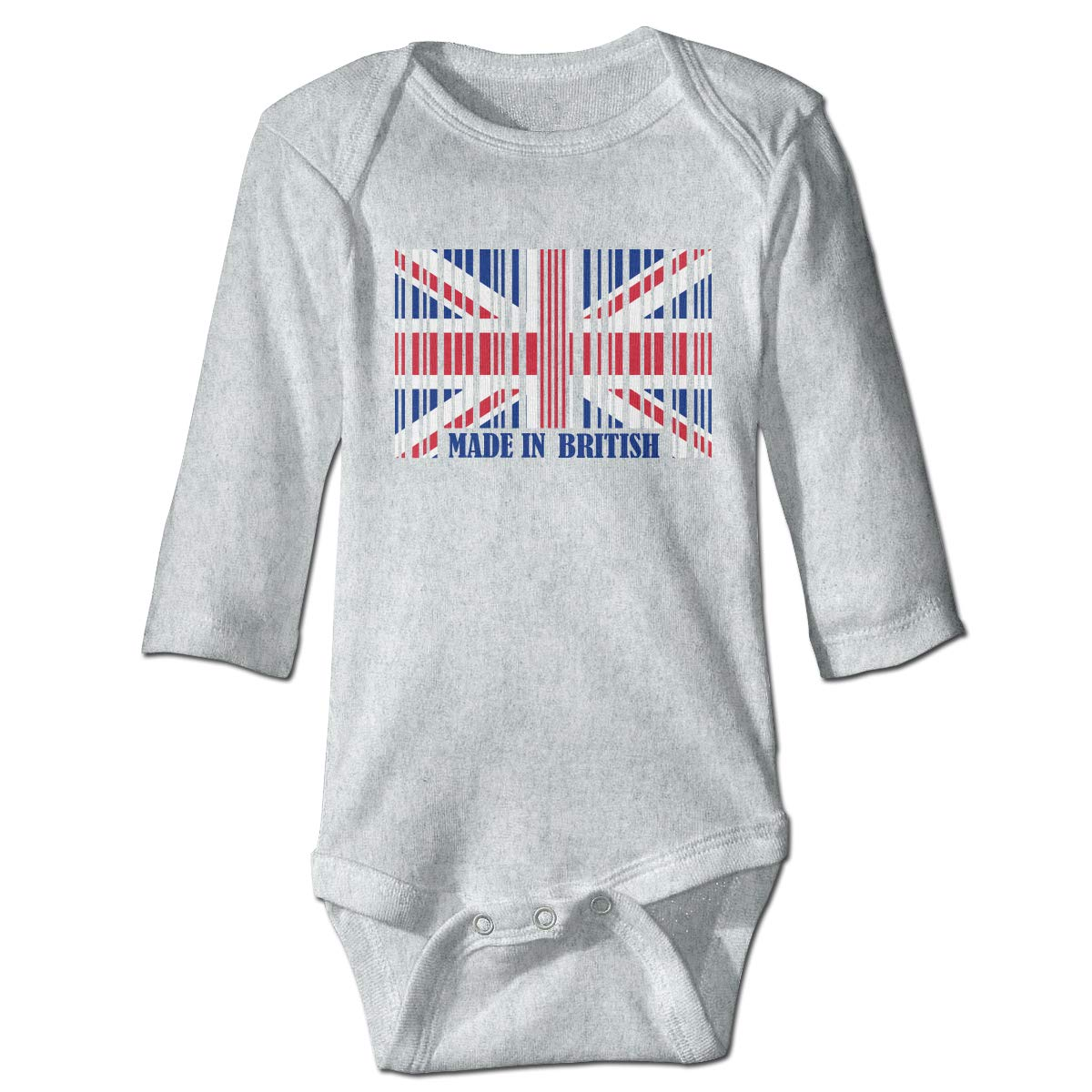 Flag of Great Britain Printed Newborn Infant Baby Girls Long-Sleeved Bodysuit Jumpsuit Outfits