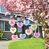 Amazon Price History for:Valentine's Lawn Decorations - Hanging Candy Hearts (Set of 9)