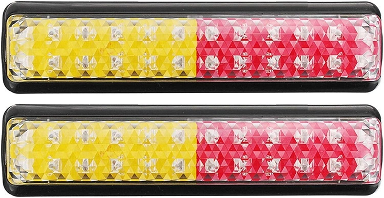 NAWQK 2 unids 24 LED Camión de Coche Luz de Cola de Tope Trasero de la luz de la luz de la lámpara de la señal de Giro a Prueba de Agua para el Remolque del camión ATV Boat