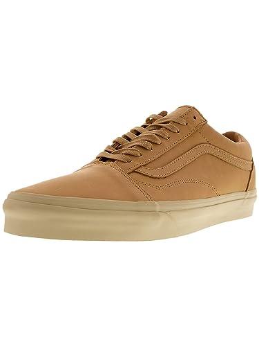 Vans Women s Old Skool Dx Mens Veggie Tan Leather Skateboarding Shoes  Veggie Tan Leather 6 M ed6c54e11