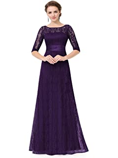 Ever-Pretty Cap Sleeve Bridesmaid Dresses Formal Maxi Party Dress Purple 09890