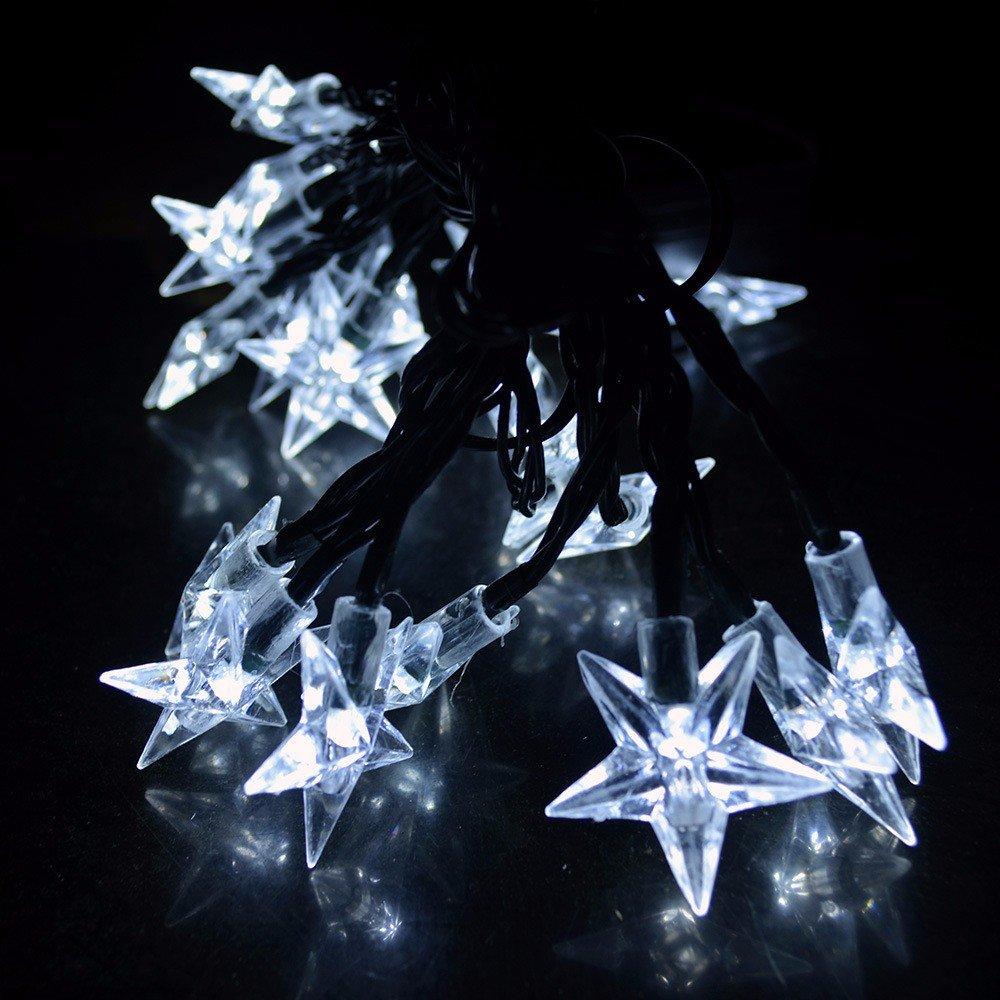 H+K+L 20 LED String Light with Solar Energy, Bell Head Fairy Lamp Decoration Lights for Outdoor Garden, Christmas, Room Lighting (White)