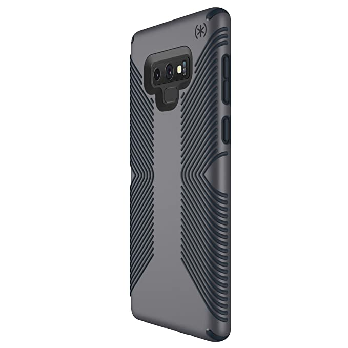 online store 6acb8 5de06 Speck Products Compatible Phone Case for Samsung Galaxy Note 9, Presidio  Grip Case, Graphite Grey/Charcoal Grey