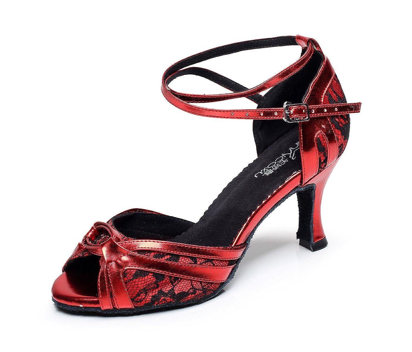 JSHOE Chaussures De Danse Pour 19952 Talons Femme Latin Salsa/Tango JSHOE/Thé/Samba/Moderne/Jazz Chaussures Sandales Talons Hauts,Red-heeled7.5cm-UK7.5/EU42/Our43 - 69a9b08 - boatplans.space