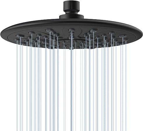 8 Inch Rain Shower Head-High Flow Waterfall Raincan Universal Replacement For Ba