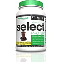 PEScience Select Vegan Plant Based Protein Powder, Chocolate, 27 Serving, Pea and Brown Rice Blend