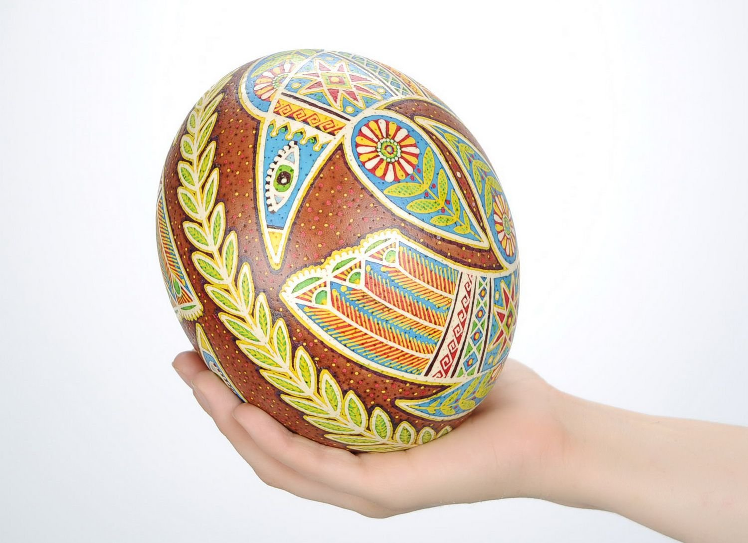 Painted Handmade Easter Egg ''Dance of Love'' Holiday Decoration by MadeHeart   Buy handmade goods (Image #2)