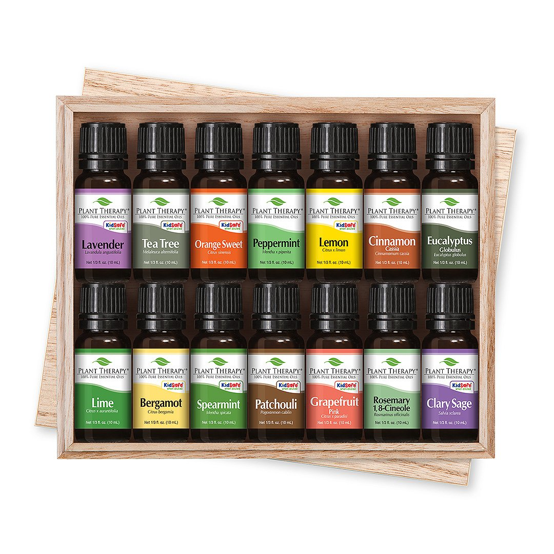 Plant Therapy Top 14 Essential Oil Set, Includes 100% Pure, Undiluted, Therapeutic Grade Oils 10 mL each Plant Therapy Inc