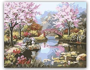 Dxycfa Bricolaje Para Colorear Pintura Por Números Belleza Natural