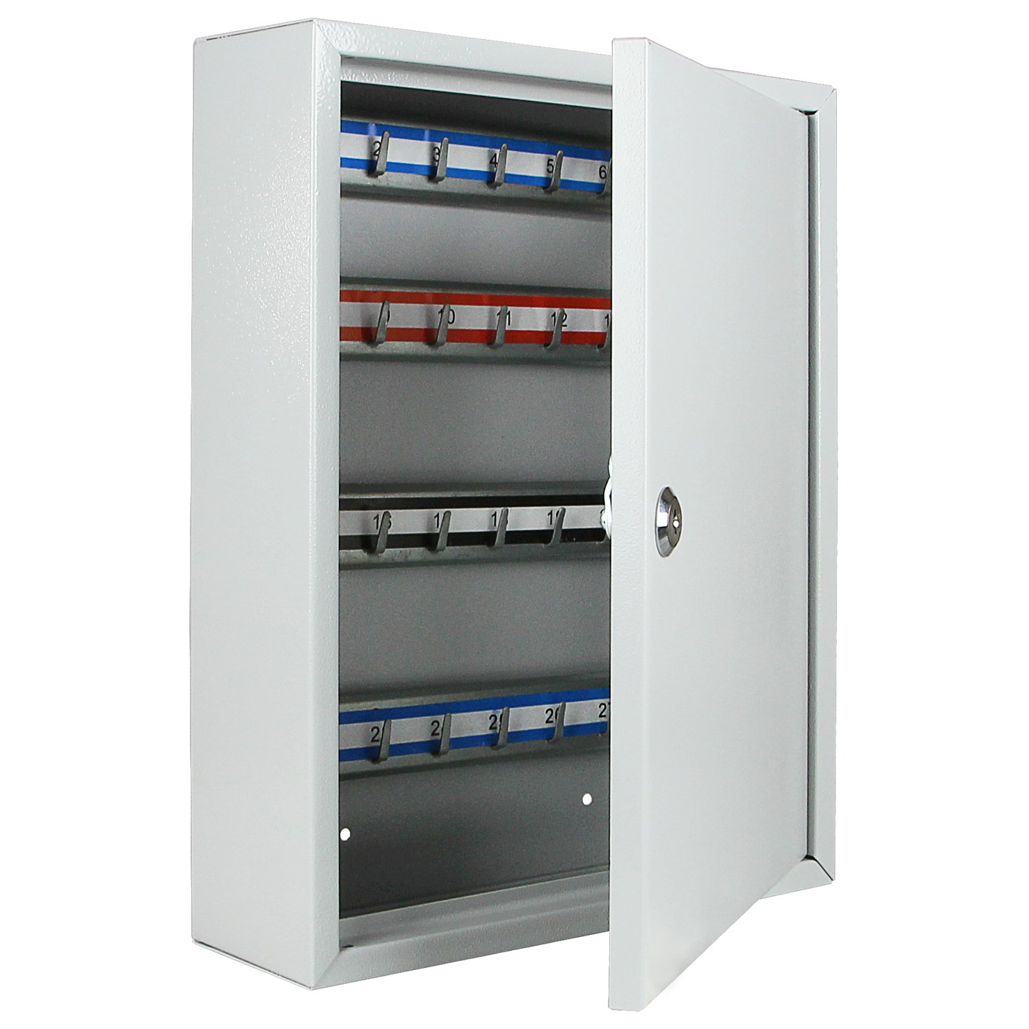 HMF 13549-07 Key Cabinet, 42 Keys 35 x 27 x 8 cm , light gray
