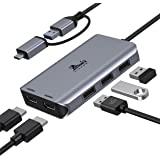 USB to Dual Monitor Adapter, Universal HDMI Splitter Extend Display, USB 3.0 Docking Station with Dual HDMI Compatible with M