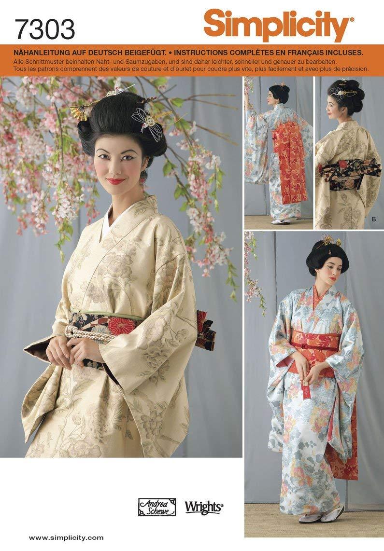 Simplicity S7303.HH Patron de Couture Costume Chinois