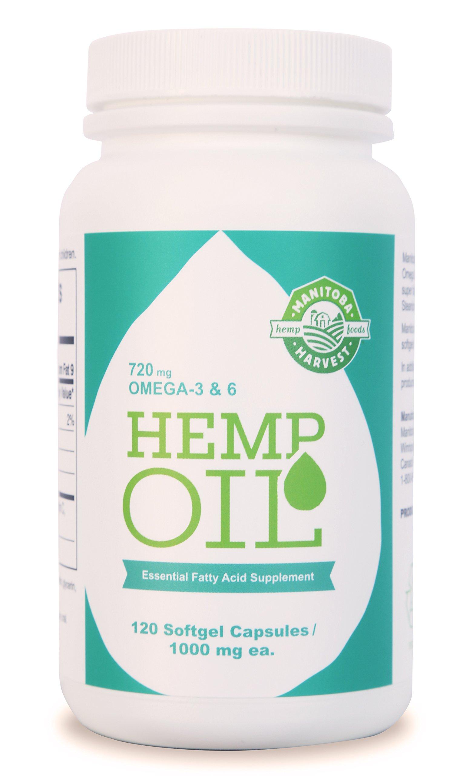Manitoba Harvest Hemp Oil Soft Gels, 1000 mg; 120 Count