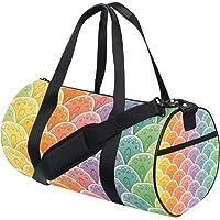 MASSIKOA Fan Rainbow Gym Duffle Bag Drum Tote Fitness Shoulder Handbag Messenger Bags for Men and Women