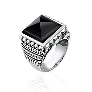 48c6077cce32 Thomas Sabo Unisex Ring Ethnic Skulls Black 925 Sterling Silver ...